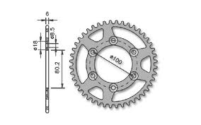 Rear sprocket Rieju RR SM and RJ Spike equivalent to JT1076 x 40
