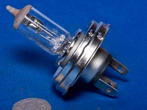 Headlight headlamp bulb P45T H4 12volt 60watt / 55watt halogen
