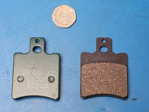 Brake pads same shape as fa193 genuine pgo