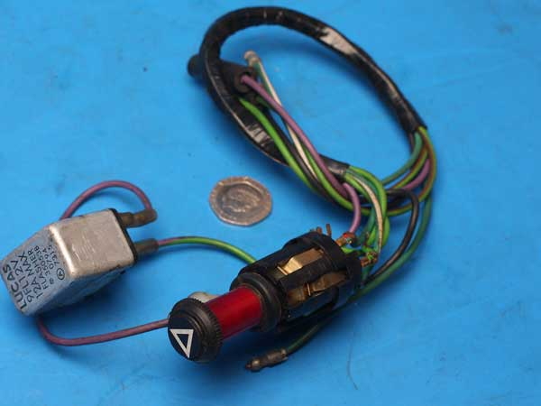 Hazard warning light switch and sub harness Interpol 2 Commander
