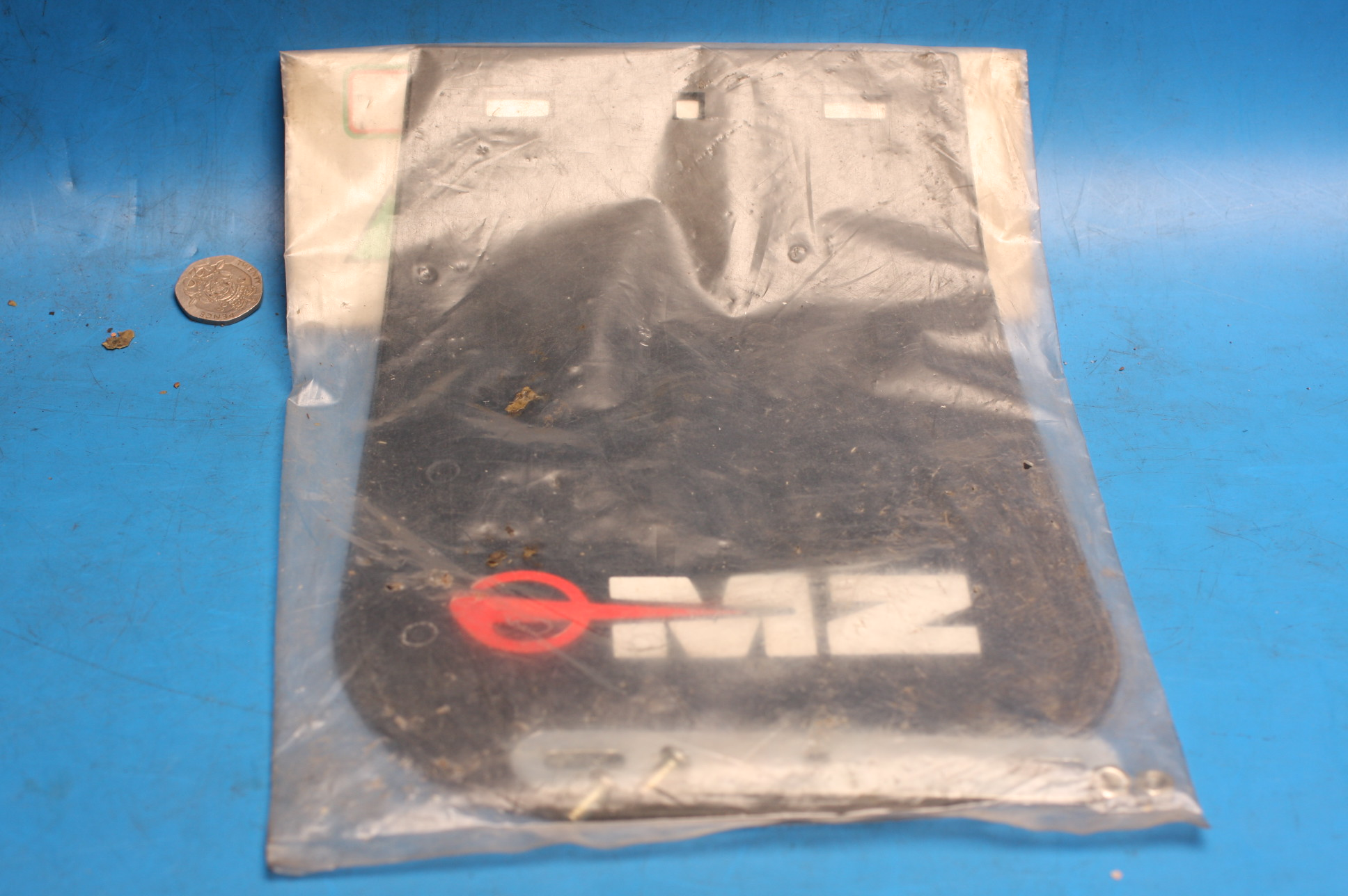MZ mudflap old stock with logo