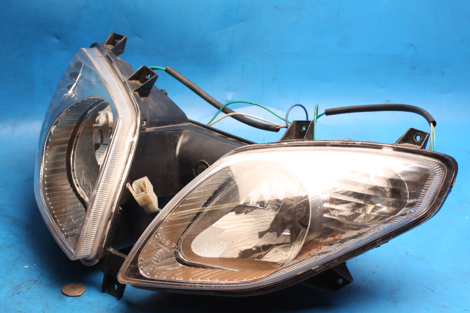 Headlight twin assembly used Sinnis Matrix2