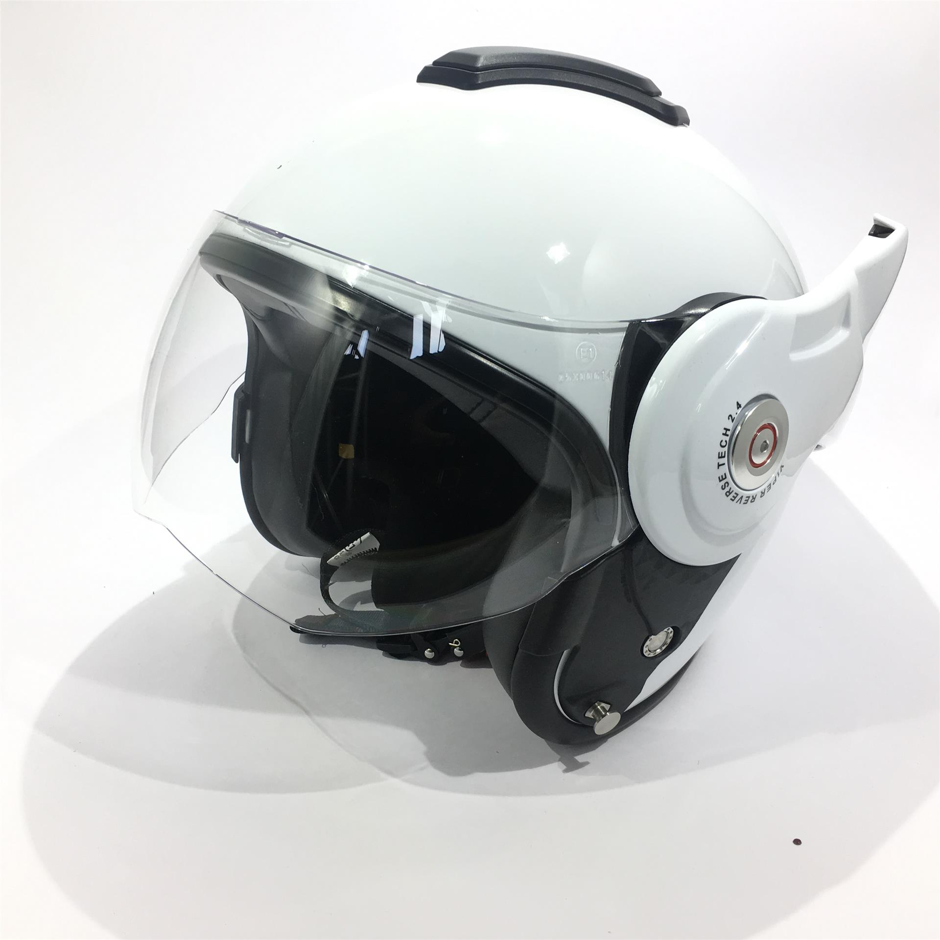 Viper RS202 Reverse Flip Helmet White Large new