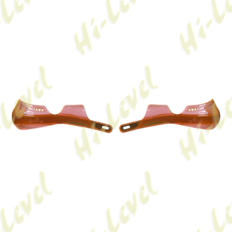 Hand Guards Wrap Round with Alloy Inserts Orange New Design