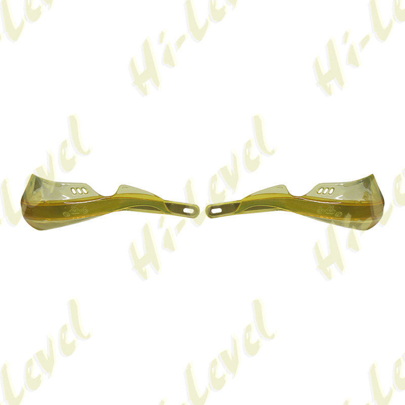Hand Guards Wrap Round with Alloy Inserts Yellow New Design