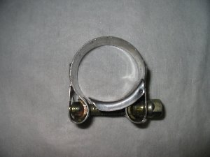 Exhaust clamp 34-37mm stainless