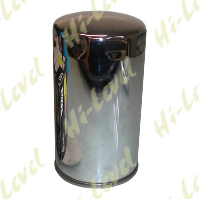 Oil Filter (C) Harley Davidson(C307,HF173)Chrome L:143mm
