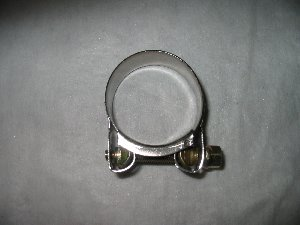 Exhaust clamp stainless 43mm to 47mm diameter