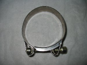 Exhaust clamp stainless 73mm to 79mm diameter