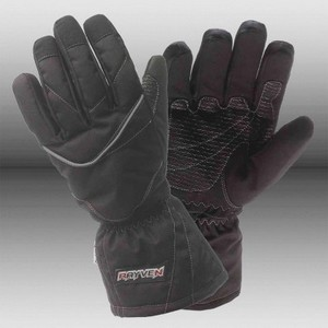 Alpha Motorcycle black glove Large
