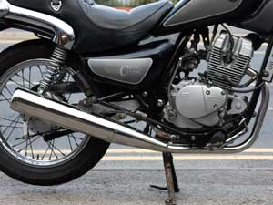 Exhaust system silencer downpipe stainless Hyosung Cruise2