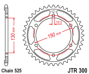 JTR300 x 47 rear sprocket new