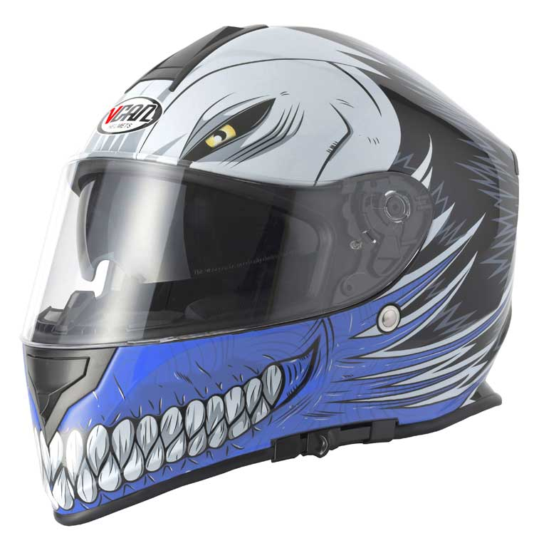 Full face helmet Vcan V127 Hollow blue extra large new