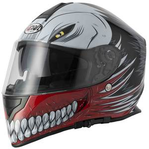 Full face helmet Vcan V127 Hollow Red extra large