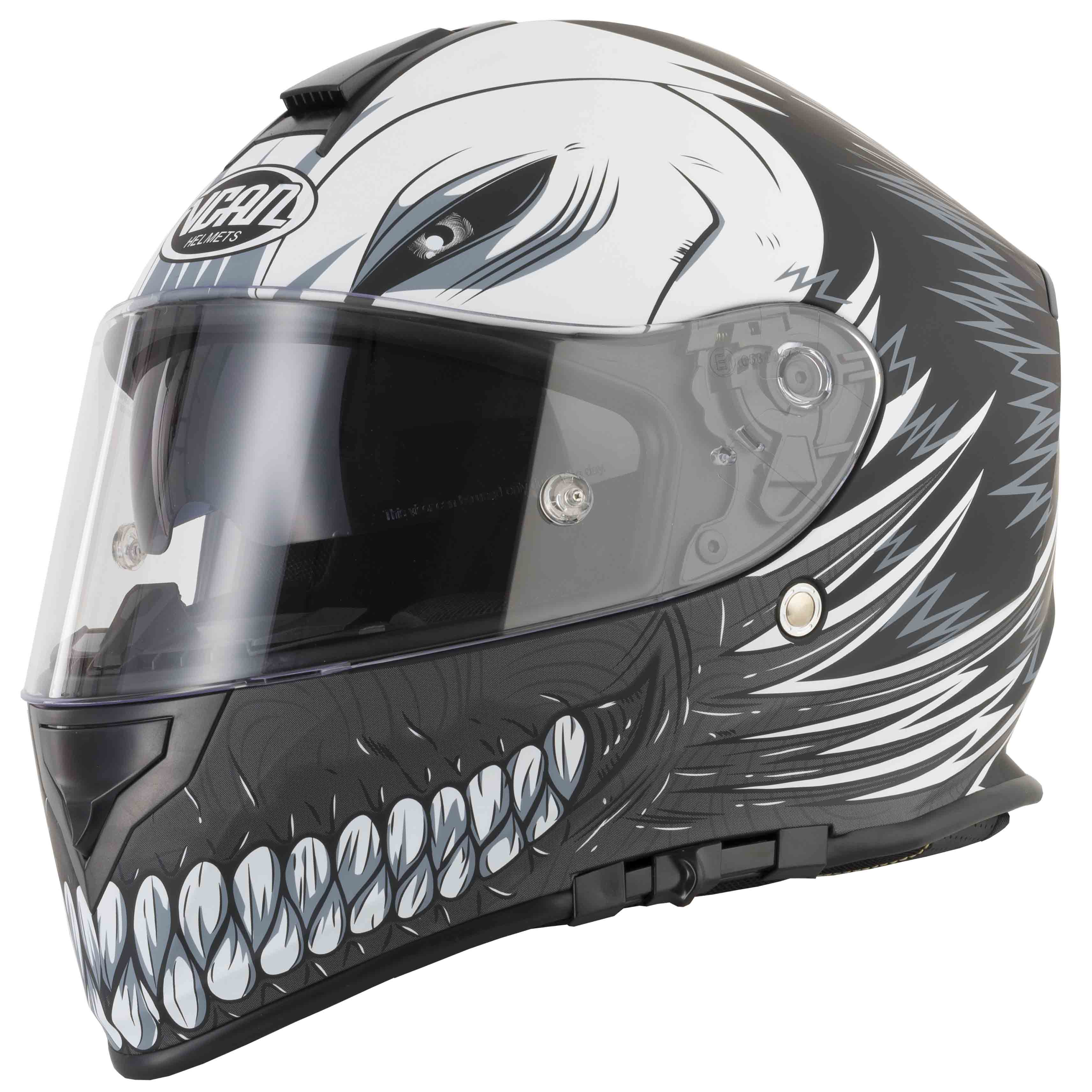 Full face helmet Vcan V127 Hollow Matt black extra large