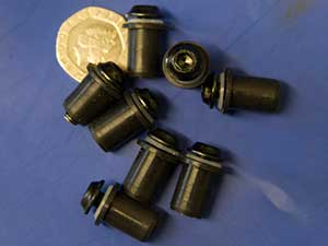 Motorcycle screen screw set in black