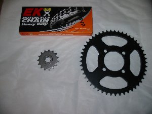 Chain and sprocket kit New Hyosung XRX125