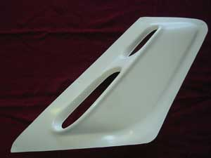 Front fairing vent panel right hand DN-0688