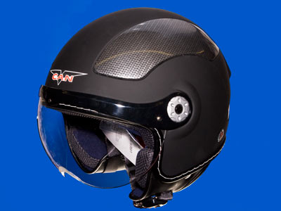 Open face modern V580 helmet by Vcan size L Large