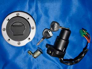 Lockset Ignition switch petrol tank cap and seat lock37000HM8130