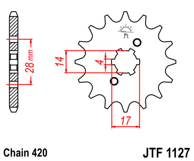 Front sprocket JTF1127 x 12 IGM 1405-1562