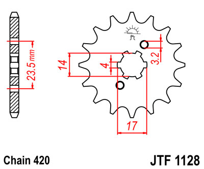 front sprocket JTF1128 x 14 universal