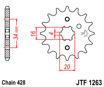 front sprocket JTF1263 x 15