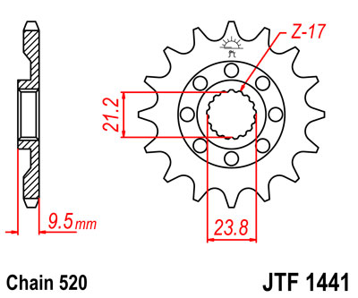 front sprocket JTF1441 13 tooth new