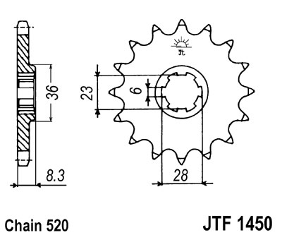 front sprocket JTF1450 14 tooth new