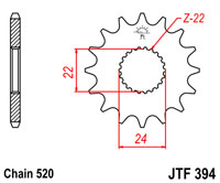 Front drive sprocket JTF394 x 17