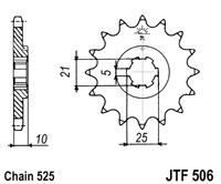 Front sprocket JTF506 x 15 tooth new