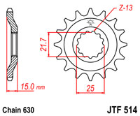 Front  sprocket 514 15 tooth new
