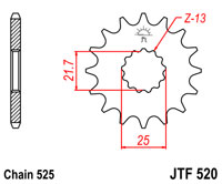 Front sprocket JTF520 17 tooth new