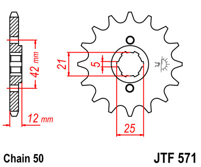 front sprocket JTF571 x 16  new