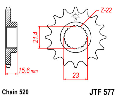 front sprocket JTF577 x 15 new