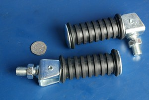 Footrests universal 12mm bolt on Yamaha type FRE003