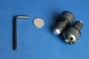 Bar end weights Barrel Black BE106