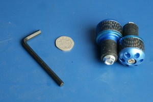 Bar end weights Barrel Blue BE106
