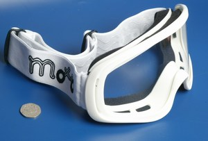 Motocross MX goggles white new