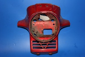 Front panel headlight surround cowl in red