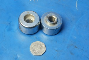Bar end weights used Hyosung Hyper 125