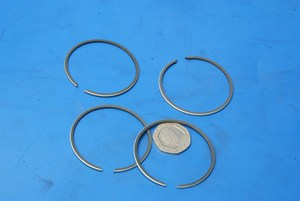 Piston rings new standard Suzuki GT125 twin engine set