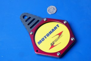 Hexagon tax disc holder carbon red Motohart