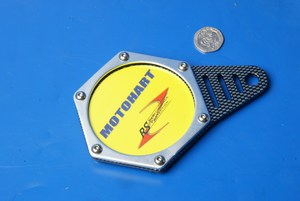 Hexagon tax disc holder carbon silver Motohart