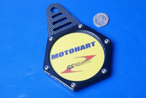 Hexagon tax disc holder carbon black Motohart