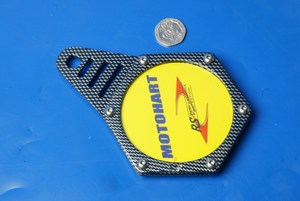Hexagon tax disc holder carbon Motohart