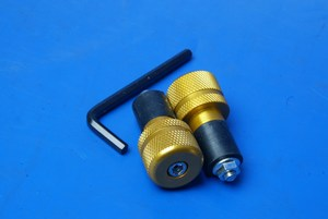 Bar end weights double round gold Universal BE111 Gold