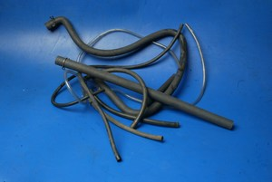 Assorted petrol pipes and hoses
