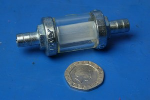 8mm Glass fuel filter new