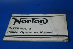 Police Owners manual Norton Interpol 2